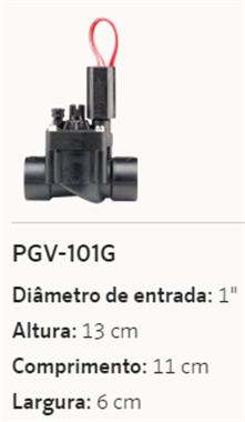 VÁLVULA HIDRÁULICA HUNTER 24VAC PGV-101GB 1
